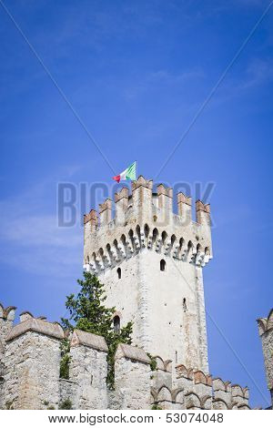 Castle In Sirmione, Italy, Europe