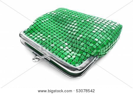Green Metal Purse