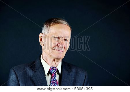 Suspecious Man guestering he is Not sure