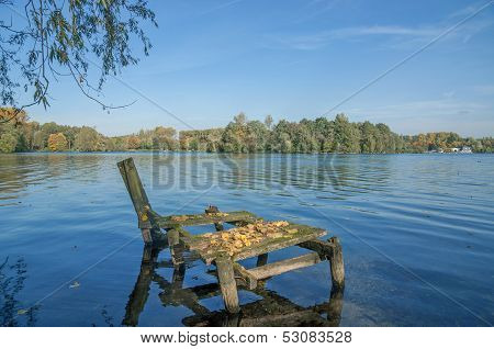 Lake Unterbacher See,Duesseldorf,Germany
