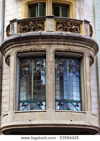 Balcony Architectural Details, Barcelona, Spain.