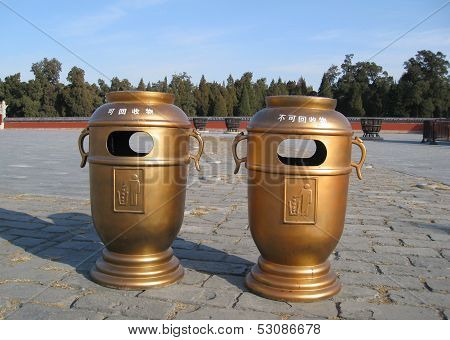 Temple Of Heaven Litterbins