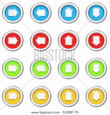 3d buttons with  arrows
