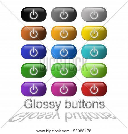 internet glossy buttons