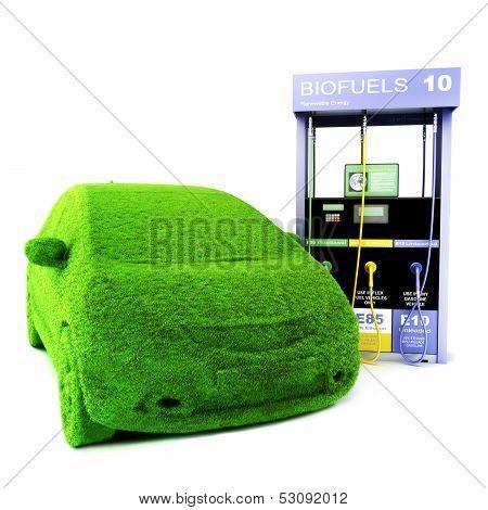 Alternative power concept eco car.