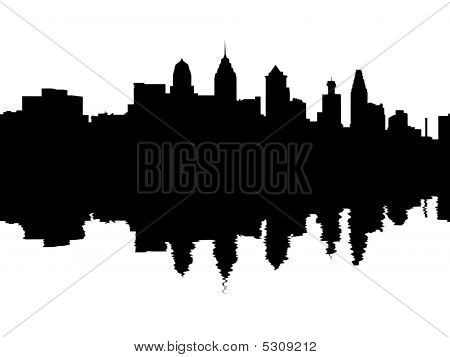 Philadelphia Skyline Reflected