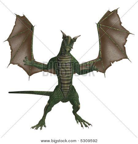 Green Brown Dragon