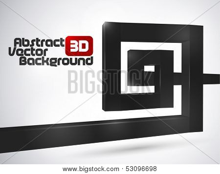 Abstract black luxury 3D spiral background