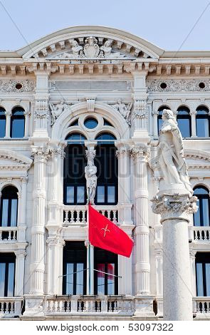 View Of Carlo V Monument In Trieste
