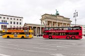 Two Tourist Double Decker Buses In Berlin