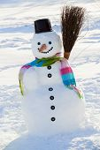 stock photo of snowmen  - Winter - JPG
