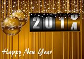 picture of numbers counting  - 2014 new year greeting card - JPG