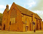 image of grammar  - Vintage look Chapel of the Hospital of St John The Baptist grammar school Coventry UK - JPG