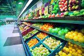 pic of supermarket  - Interior of empty supermarket - JPG