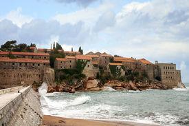picture of former yugoslavia  - The historic island of Sveti Stefan in Montenegro - JPG