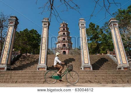 Riding A Bicycle In Vietnam
