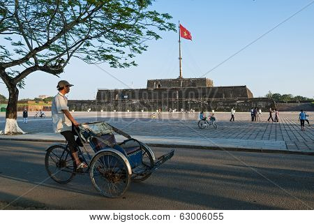 Cyclo Driver In Vietnam