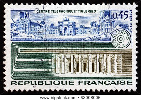 Postage Stamp France 1973 Tuileries Palace
