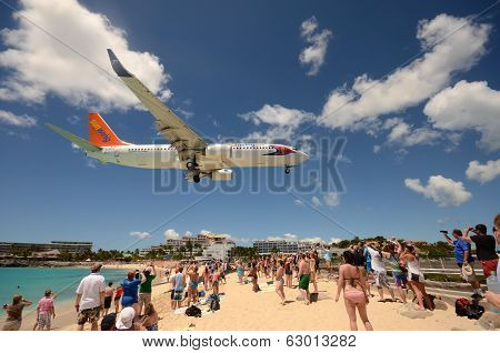 Airplanes Landing Over Maho Beach, St Maarten