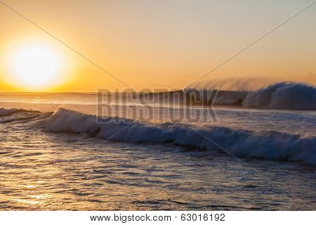 Morning Ocean Waves Power