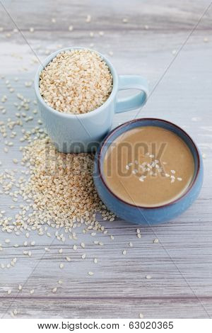 tahini made from sesame seeds - food and drink