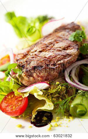 Rib Eye Steak with  Vegetables