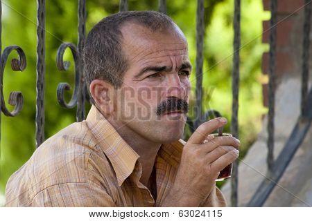 Turkish Man Drinking Tea