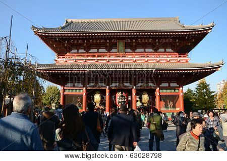 Tokyo, Japan - Nov 21: The Buddhist Temple Senso-ji Is The Symbol Of Asakusa
