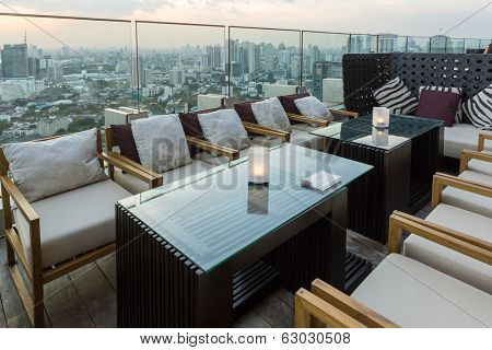 BANGKOK, THAILAND - NOV 29: View from the top of Octave Bar on November 29, 2013 in Bangkok, Thailand. The Octave bar is located in the Thong Lor district near sukhumvit road.