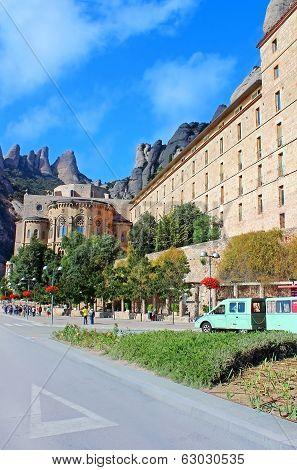 People Are Going To Montserrat Benedictine Monastery
