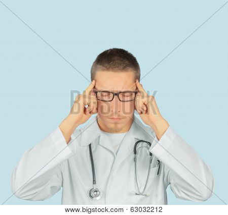 Man Doctor With Headache