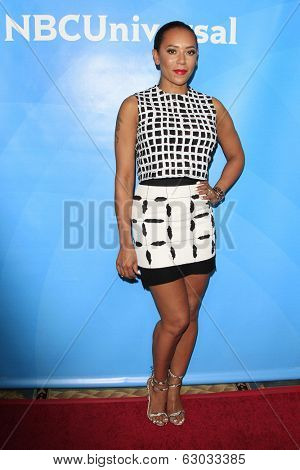 PASADENA - APR 8: Mel B at the NBC/Universal's 2014 Summer Press Day held at the Langham Hotel on April 8, 2014 in Pasadena, California