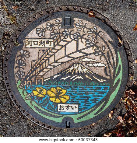 Manhole in Kawaguchiko