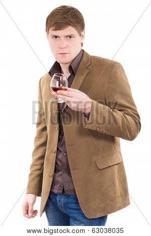 Handsome Man Wearing Terracotta Jacket