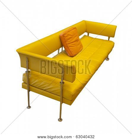 mid century yellow contemporary sofa