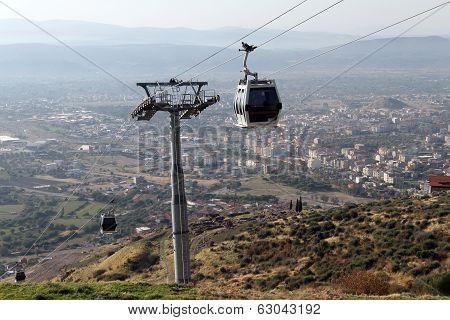 Cable Car In Bergama