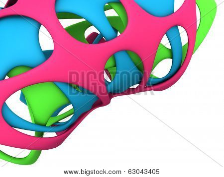 Abstract rubber art background 3d illustration