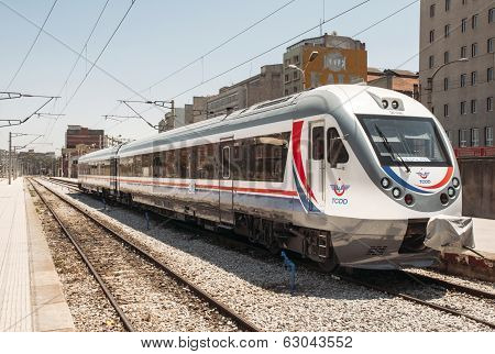 Turkey Fast Train In Izmirstation