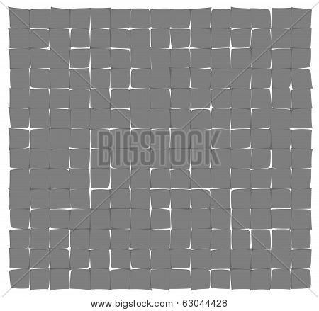 Abstract Gray Deformed Squares