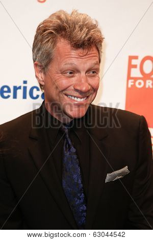 NEW YORK-APR 9: Recording artist Jon Bon Jovi attends the Food Bank for New York City's Can Do Awards Dinner Gala at Cipriani Wall Street on April 9, 2014 in New York City.