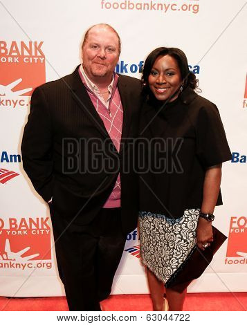 NEW YORK-APR 9: Chef Mario Batali & Margarette Purvis, Food Bank President & CEO, attend the Food Bank for New York City's Can Do Awards Gala at Cipriani Wall Street on April 9, 2014 in New York City.