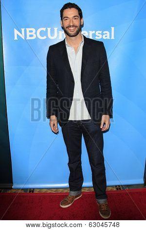 PASADENA - APR 8: Tom Ellis at the NBC/Universal's 2014 Summer Press Day held at the Langham Hotel on April 8, 2014 in Pasadena, California
