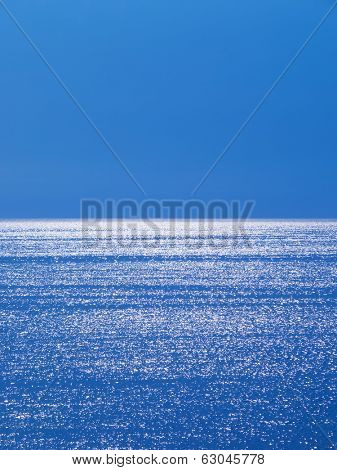glistening and shimmering ocean surface.