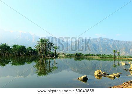 Lake in Socotra