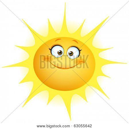 Cute smiling sun