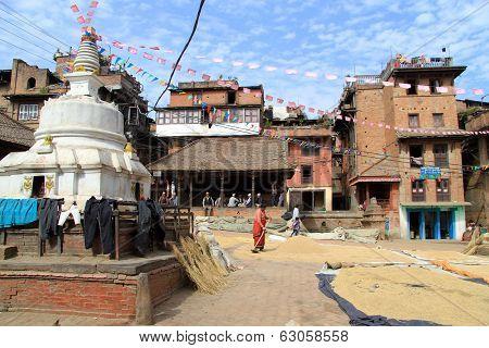 Stupa And Grain