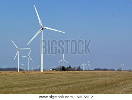 Wind Generators On Farmland