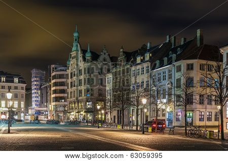 Hojbro Square In Evening, Copenhagen