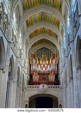Organ In The Cathedral La Almudena