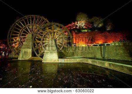 Water Wheel ,landmark Of Lijiang.